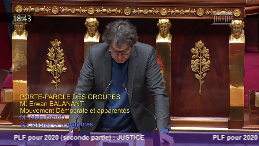 Budget 2020 de la Justice : intervention en hémicycle